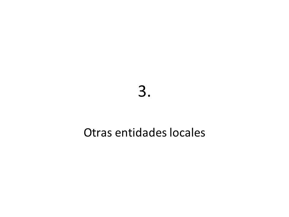3. Otras entidades locales