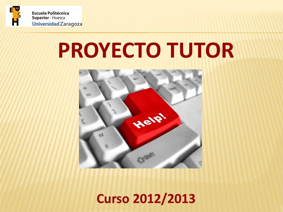 PROYECTO TUTOR Curso 2012/2013