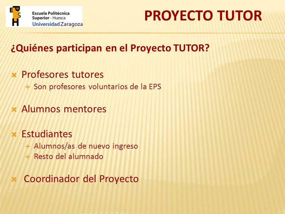 ¿Quiénes participan en el Proyecto TUTOR.