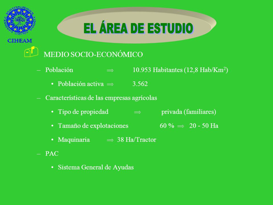 - MEDIO FÍSICO –Superficie total 85.442 Ha Terreno cultivable 61.208 Ha –Superficie de regadío 44. 858 Ha –Vegetación –Suelos Tipos de suelo –AG1 17.4