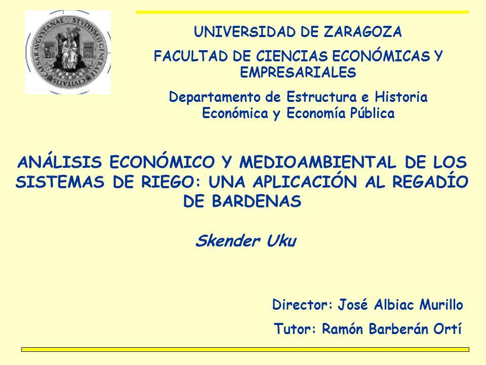 UNIVERSIDAD DE ZARAGOZA FACULTAD DE CIENCIAS ECONÓMICAS Y EMPRESARIALES Departamento de Estructura e Historia Económica y Economía Pública ANÁLISIS EC