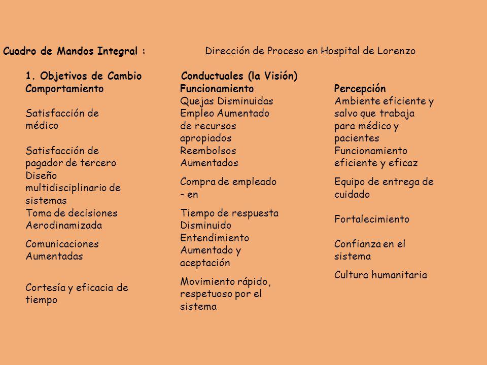 Cuadro de Mandos Integral : Dirección de Proceso en Hospital de Lorenzo 1.
