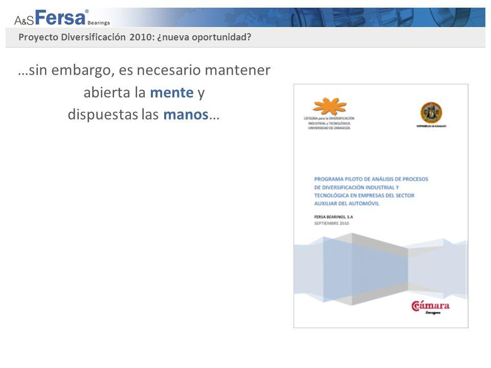 Proyecto Diversificación 2010: ¿nueva oportunidad.