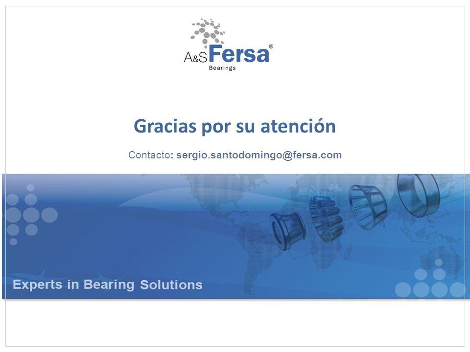 Gracias por su atención Contacto: sergio.santodomingo@fersa.com