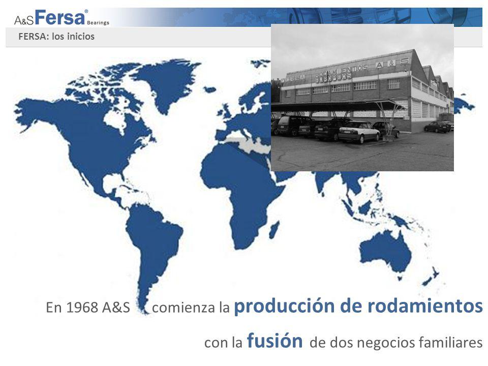 Evolución de compañía En 2002, Going Investment, adquiere el 84% of Fersa.