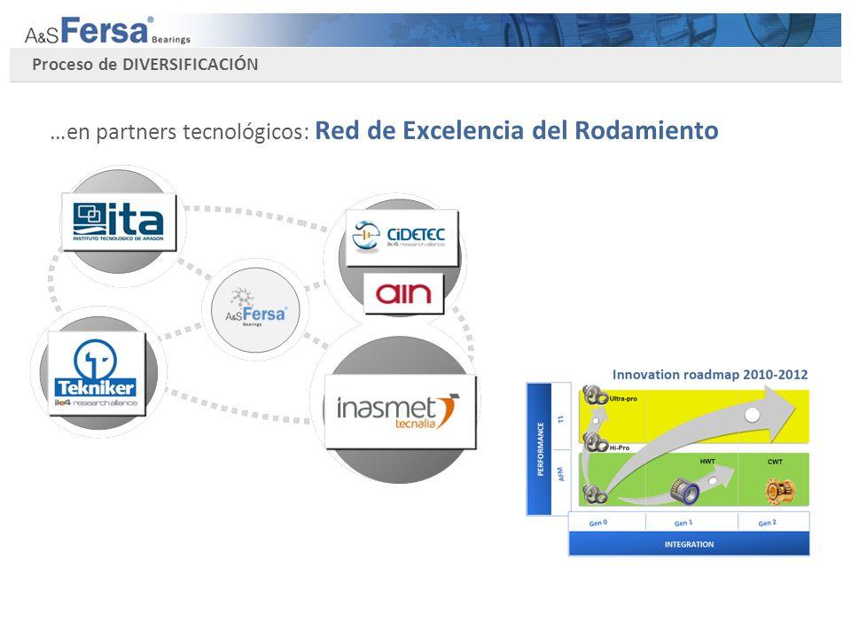 Proceso de DIVERSIFICACIÓN …en partners tecnológicos: Red de Excelencia del Rodamiento
