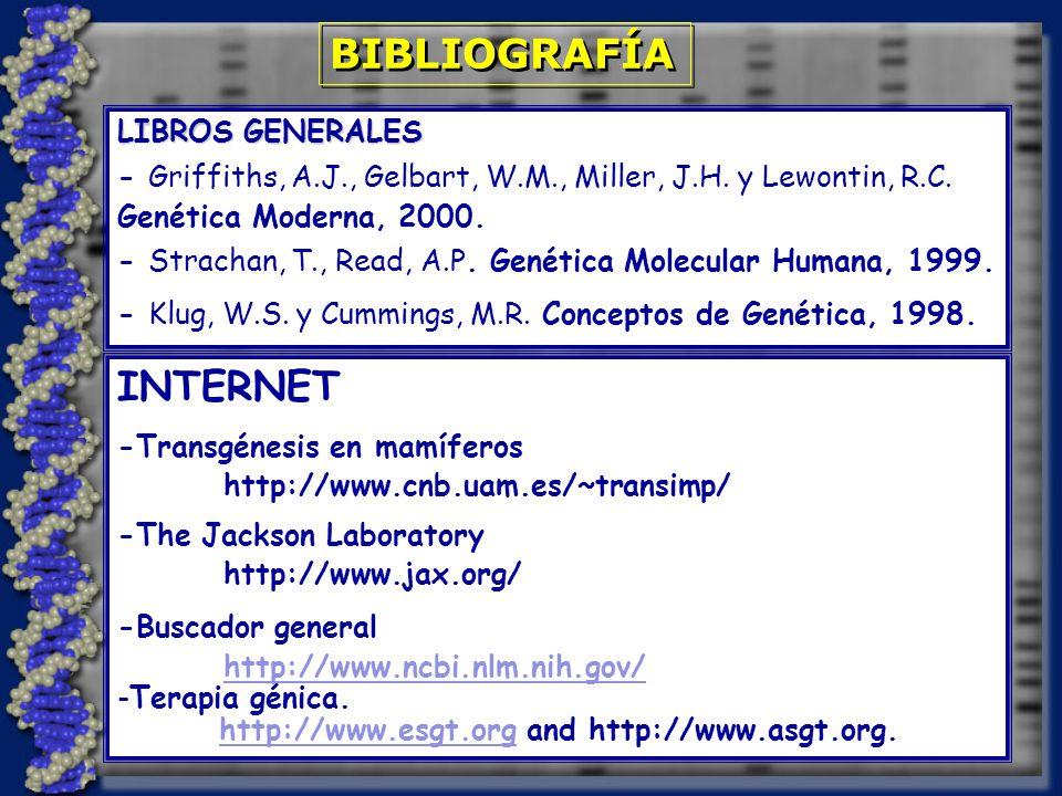 BIBLIOGRAFÍA LIBROS GENERALES - Griffiths, A.J., Gelbart, W.M., Miller, J.H.