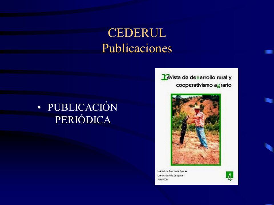 CEDERUL Publicaciones PUBLICACIÓN PERIÓDICA