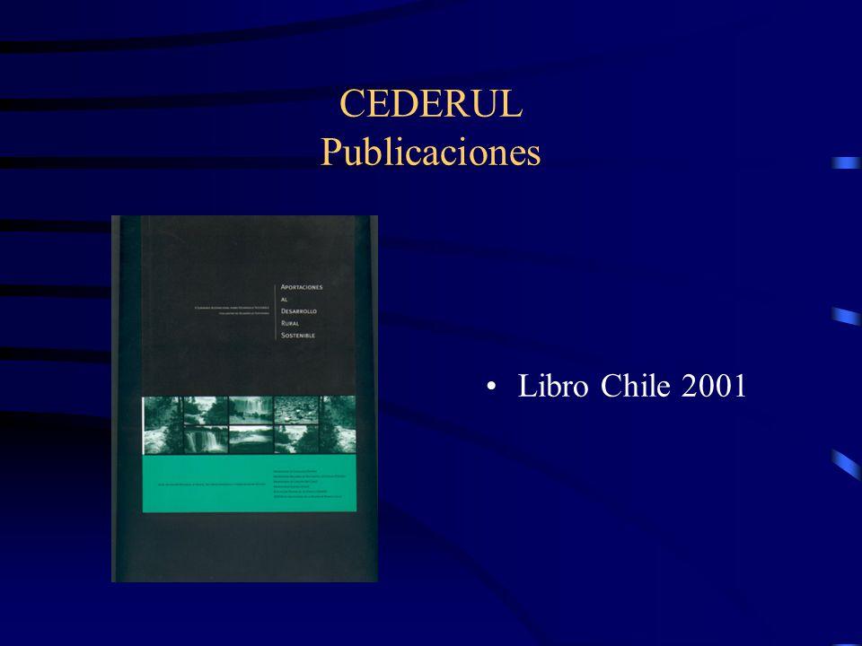 CEDERUL Publicaciones Libro Chile 2001