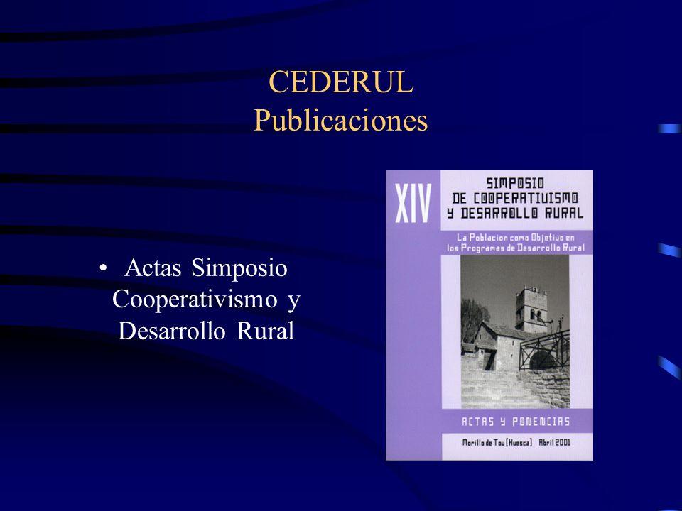 CEDERUL Publicaciones Actas Simposio Cooperativismo y Desarrollo Rural