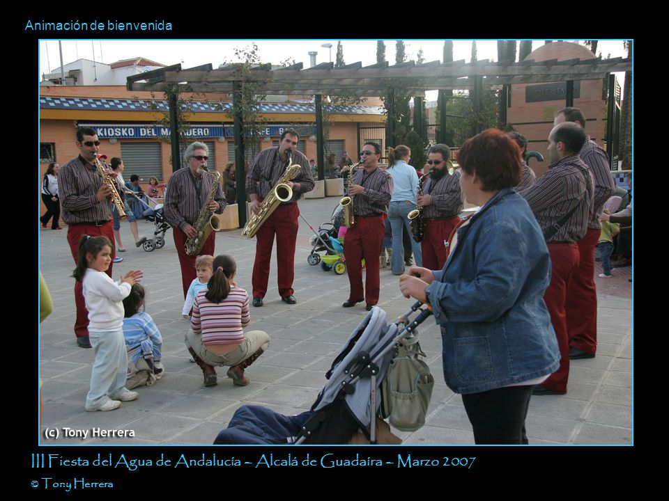 Pancarta III Fiesta del Agua de Andalucía – Alcalá de Guadaíra – Marzo 2007 © Tony Herrera