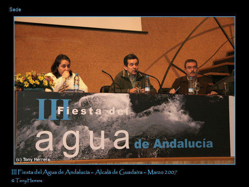 Agua dineral (diapositiva de la ponencia de ACPES) III Fiesta del Agua de Andalucía – Alcalá de Guadaíra – Marzo 2007 © Tony Herrera
