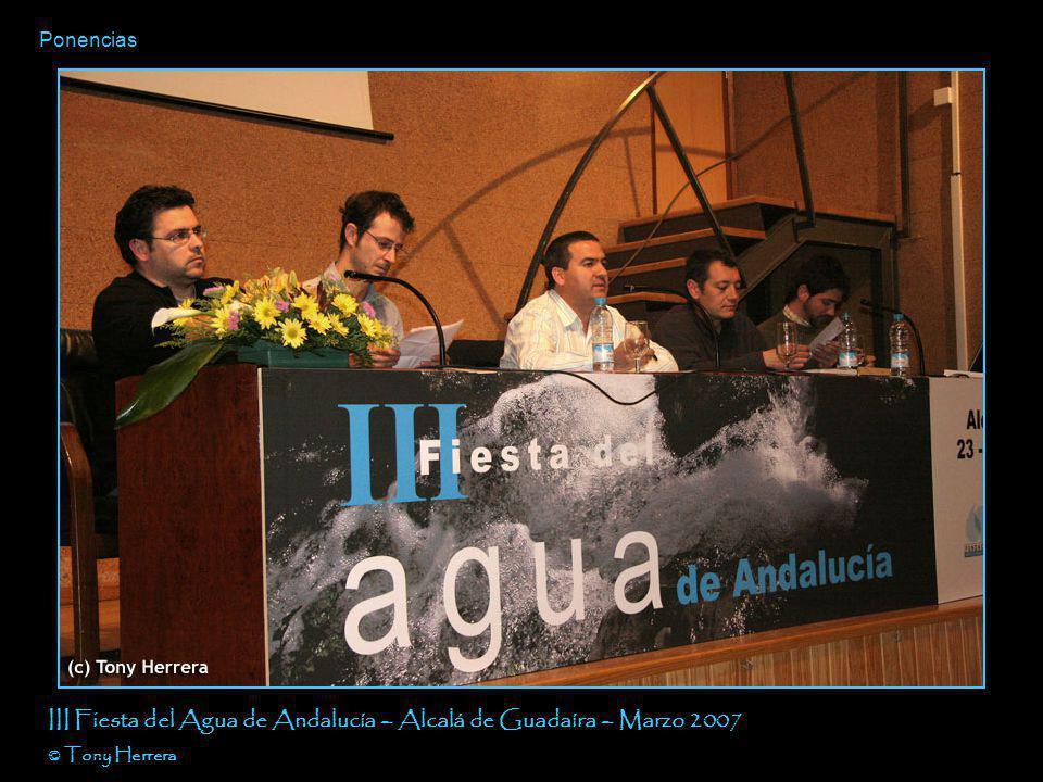 Ponencias III Fiesta del Agua de Andalucía – Alcalá de Guadaíra – Marzo 2007 © Tony Herrera