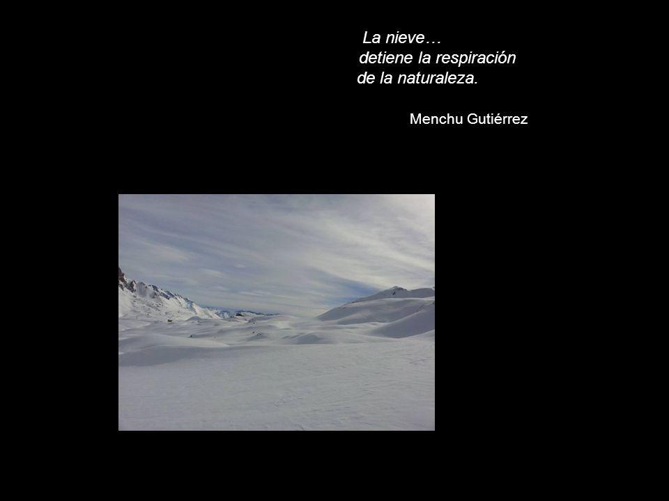 La nieve… detiene la respiración de la naturaleza. Menchu Gutiérrez