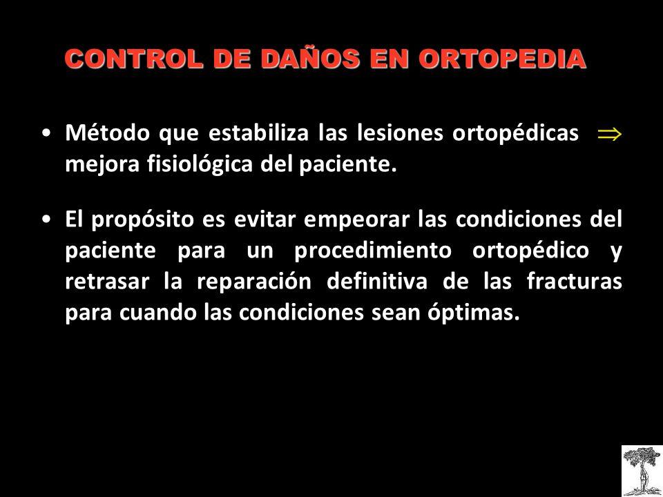 Método que estabiliza las lesiones ortopédicas mejora fisiológica del paciente.