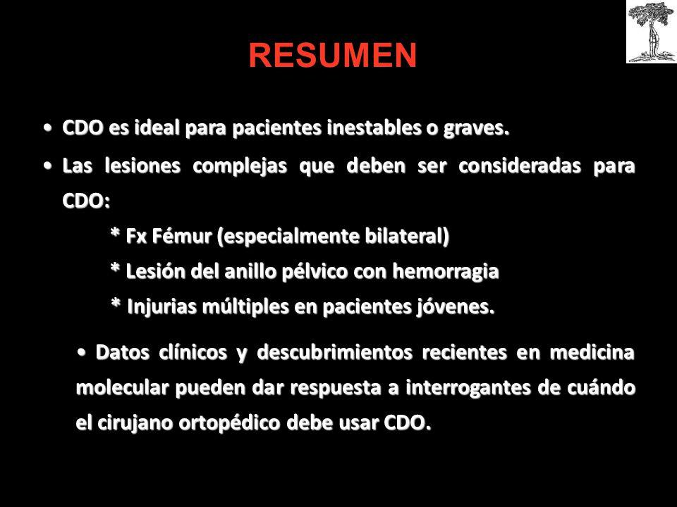 CDO es ideal para pacientes inestables o graves.CDO es ideal para pacientes inestables o graves.