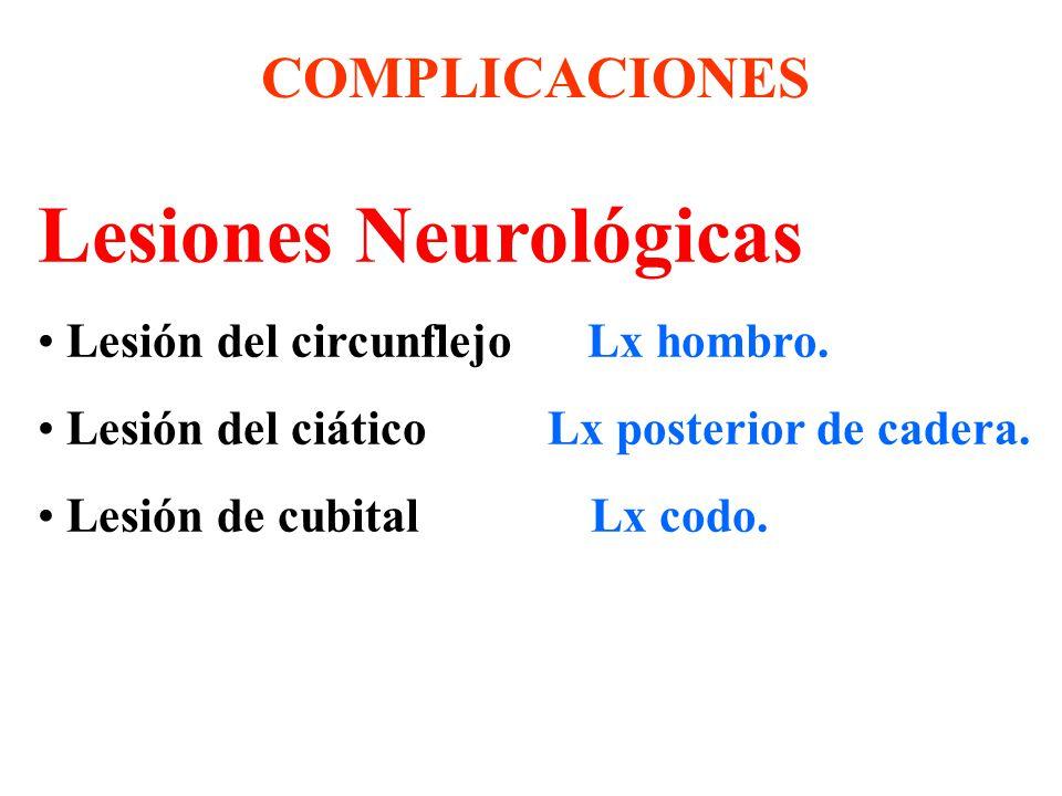 Lesiones Neurológicas Lesión del circunflejo Lx hombro.