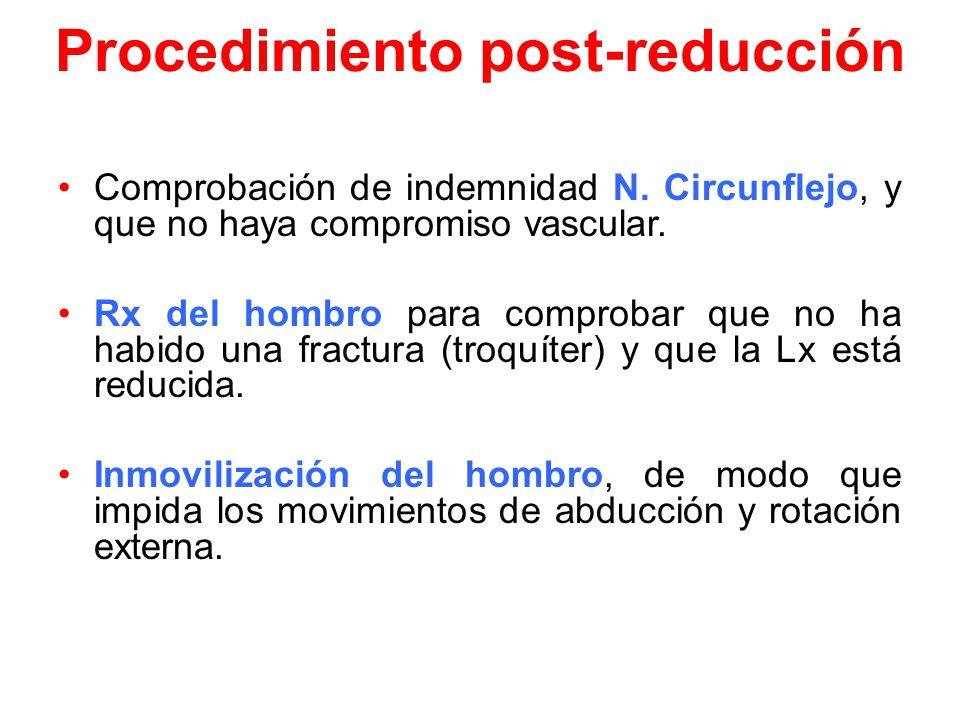 Procedimiento post-reducción Comprobación de indemnidad N.
