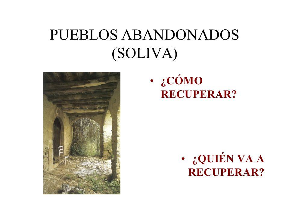 PUEBLOS ABANDONADOS (SOLIVA) ¿CÓMO RECUPERAR? ¿QUIÉN VA A RECUPERAR?