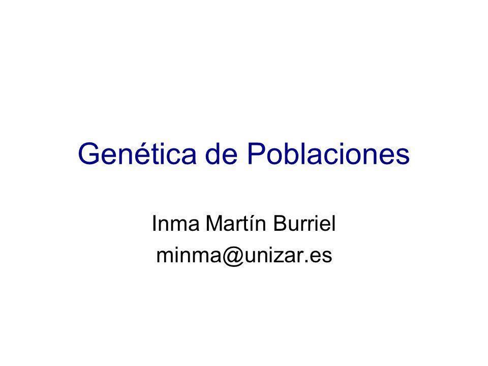 Genética de Poblaciones Inma Martín Burriel minma@unizar.es