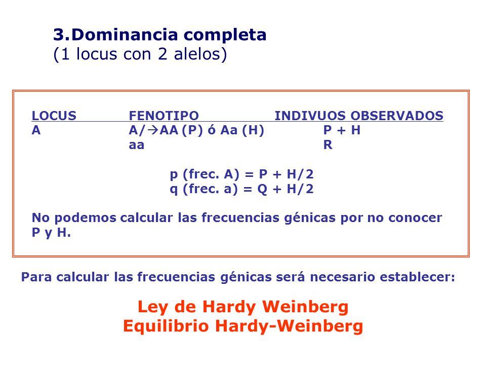LOCUSFENOTIPOINDIVUOS OBSERVADOS AA/ AA (P) ó Aa (H)P + H aaR p (frec.