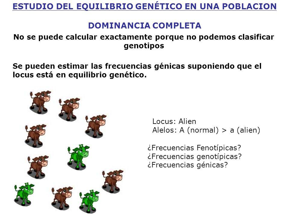 Locus: Alien Alelos: A (normal) > a (alien) ¿Frecuencias Fenotípicas.
