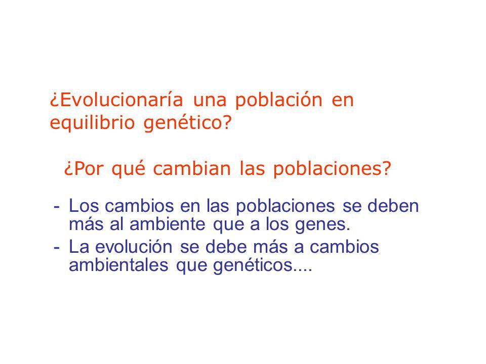 -Los cambios en las poblaciones se deben más al ambiente que a los genes.