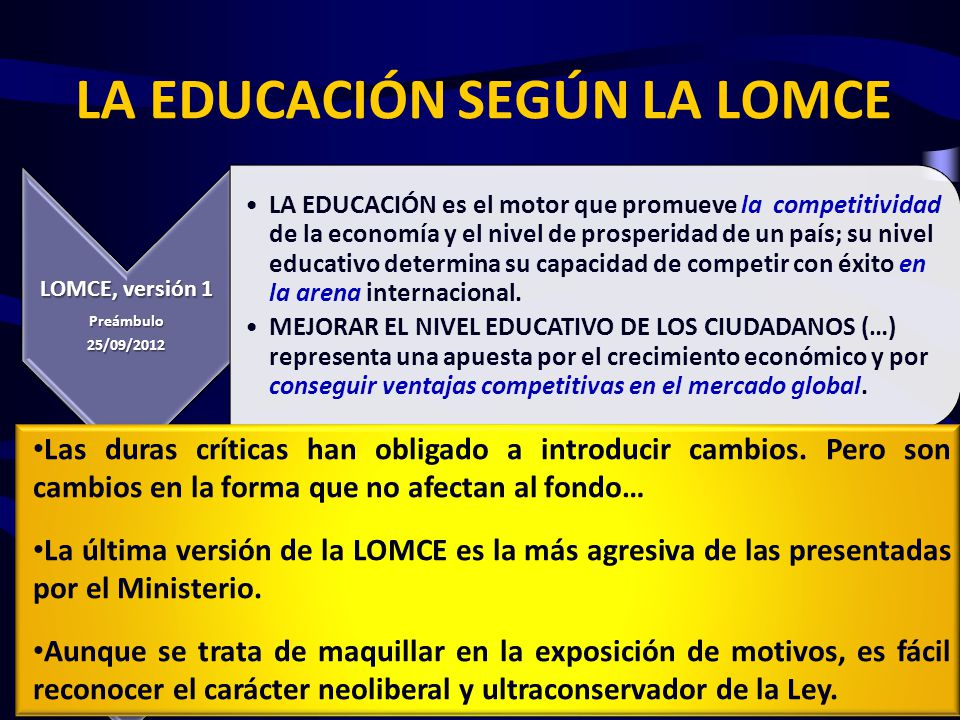 Autonomía educativa «Aumento de la autonomía de los centros, (…) está unida a la (…) rendición de cuentas.