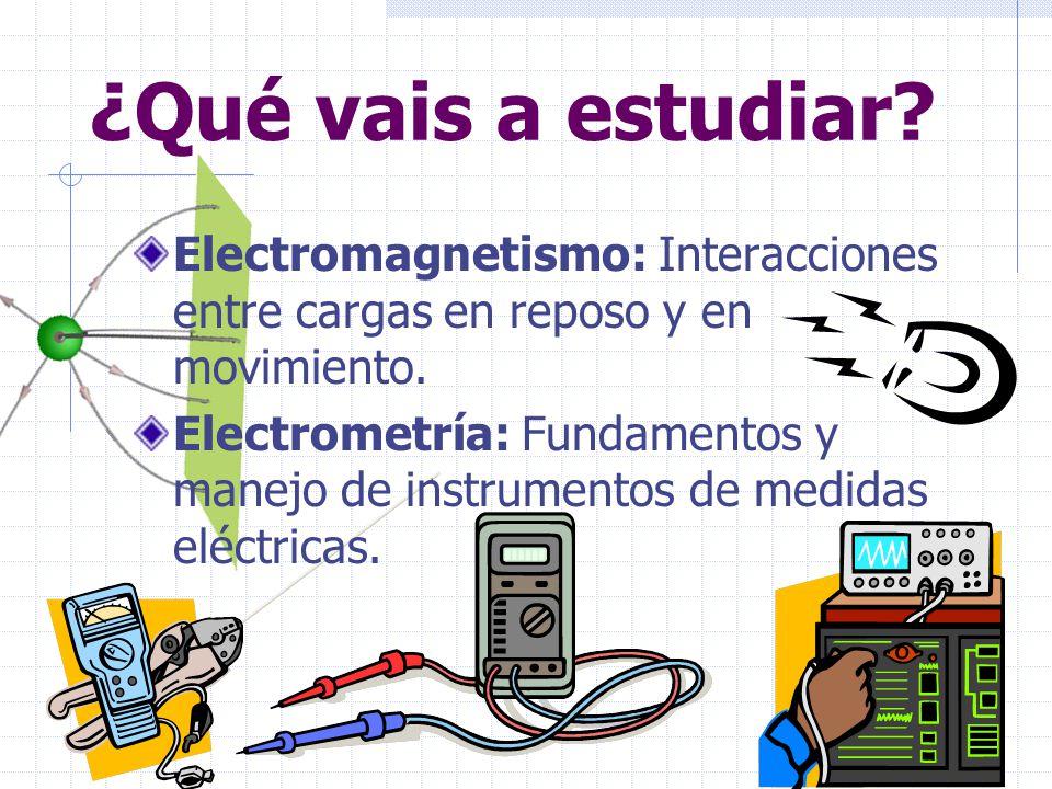 Dar la base conceptual del campo eléctri- co y magnético para las asignaturas que lo utilicen con posterioridad.