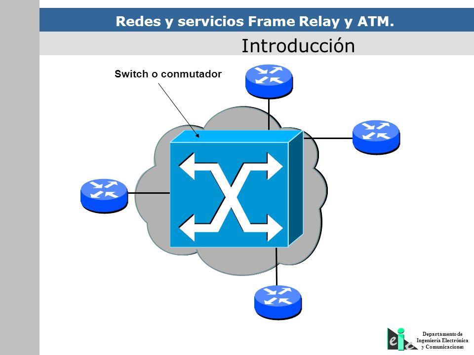 Redes y servicios Frame Relay y ATM. Departamento de Ingeniería Electrónica y Comunicaciones Red de Transporte Switch o conmutador Introducción