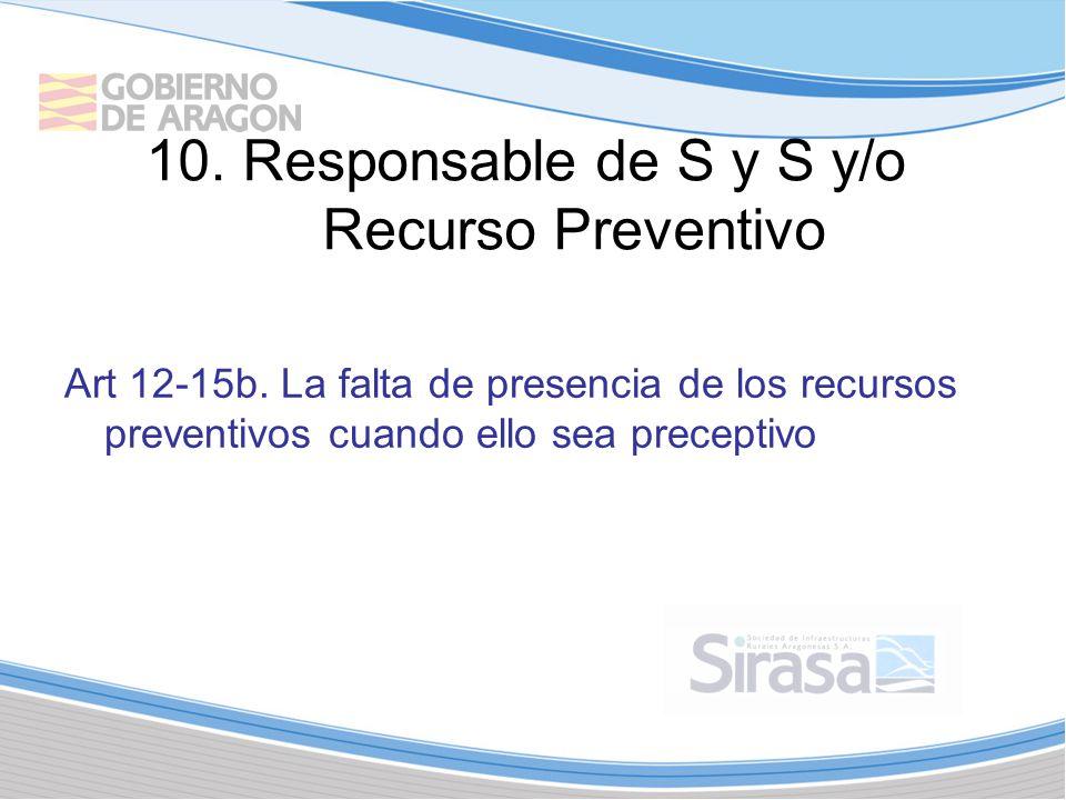 10.Responsable de S y S y/o Recurso Preventivo Art 12-15b.