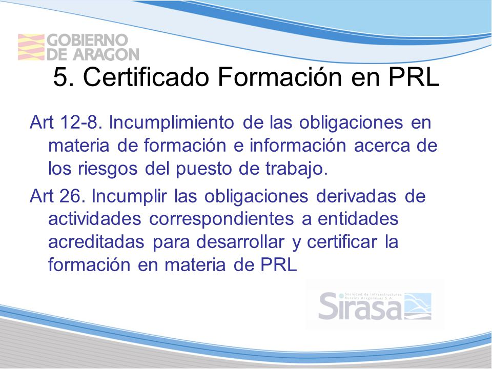 5.Certificado Formación en PRL Art 12-8.