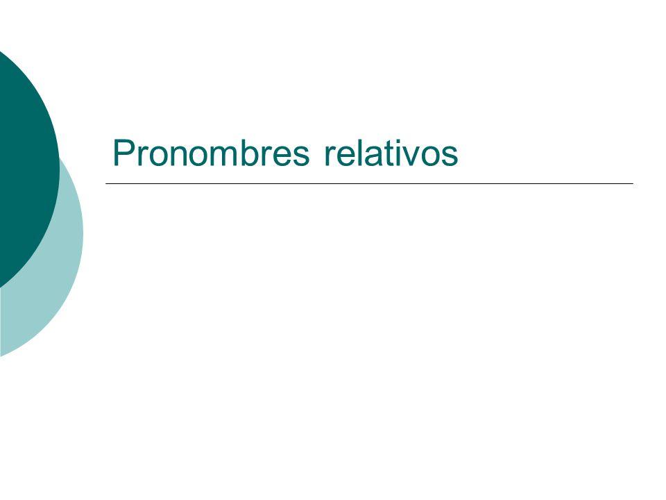 Pronombres relativos