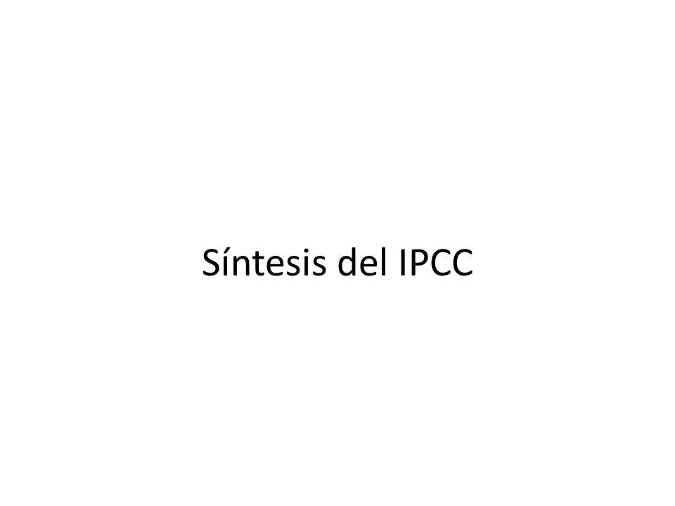 Síntesis del IPCC