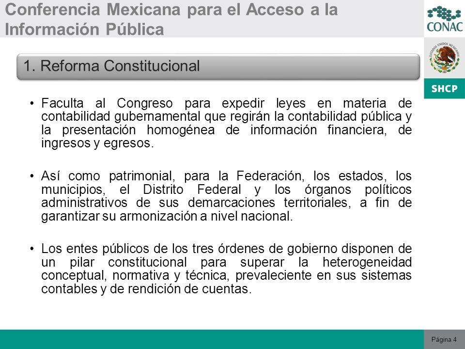 Página 4 Conferencia Mexicana para el Acceso a la Información Pública 1.