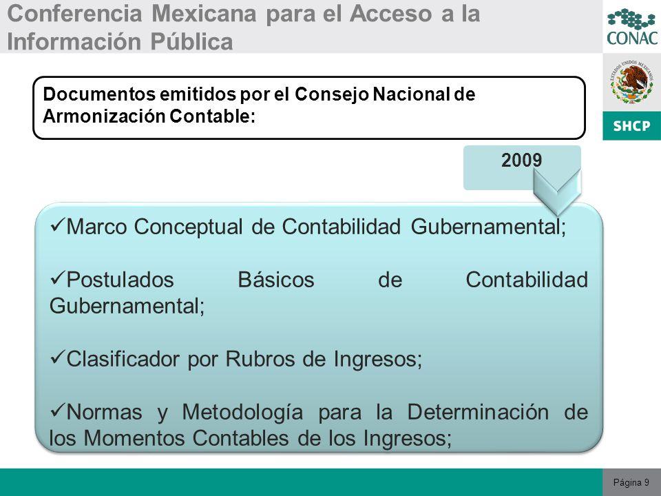 Página 20 Conferencia Mexicana para el Acceso a la Información Pública CONCLUSIONES 7 Consolidar la política de Estado en materia de información, transparencia, rendición de cuentas y combate a la corrupción.