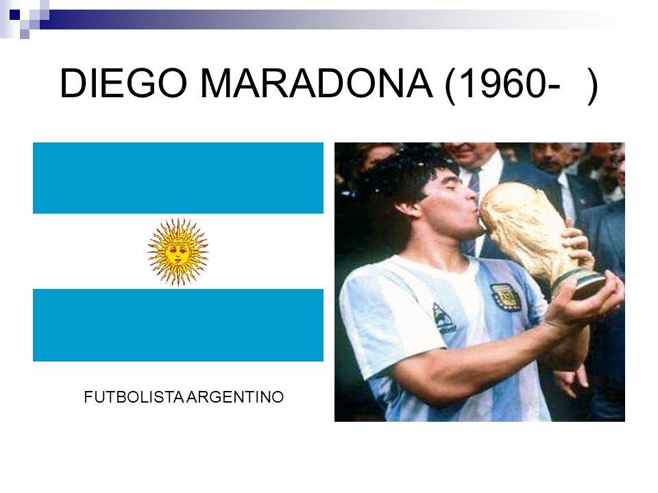 DIEGO MARADONA (1960-) FUTBOLISTA ARGENTINO