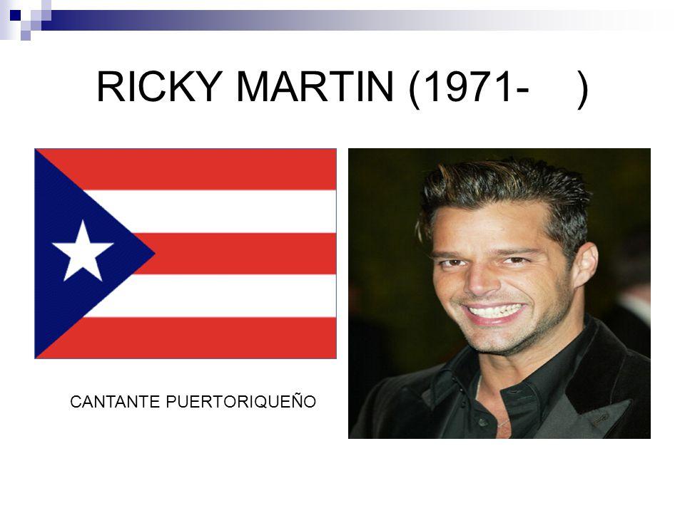 RICKY MARTIN (1971-) CANTANTE PUERTORIQUEÑO