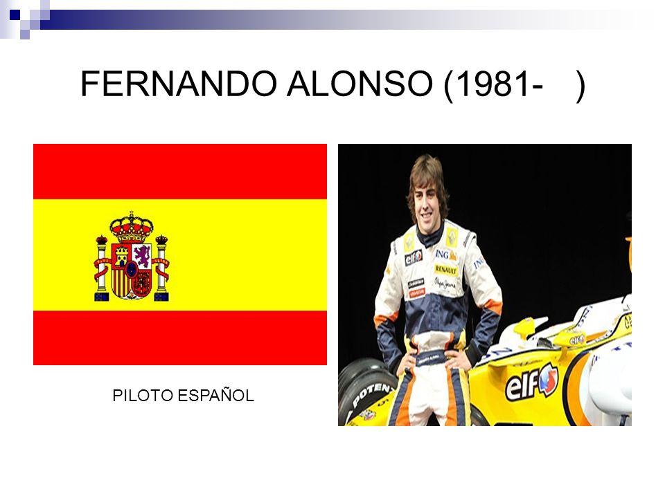 FERNANDO ALONSO (1981- ) PILOTO ESPAÑOL