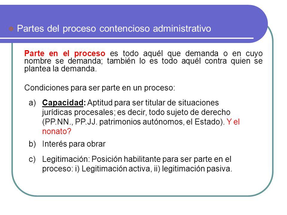 a.Legitimidad para obrar activa El sujeto que considere que su derecho ha sido afectado.