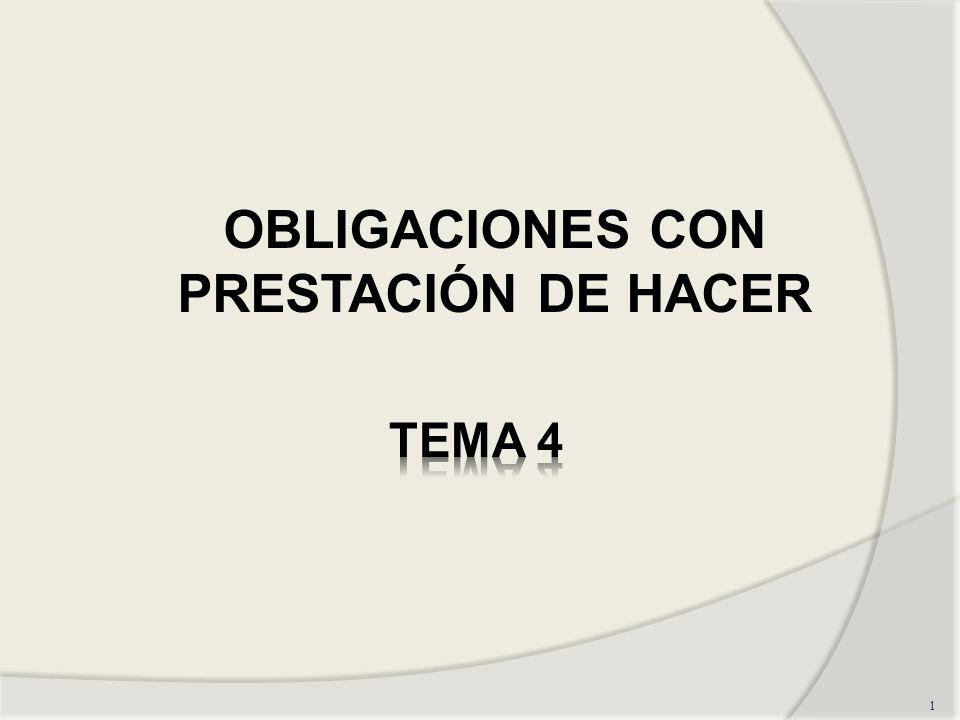 1 OBLIGACIONES CON PRESTACIÓN DE HACER