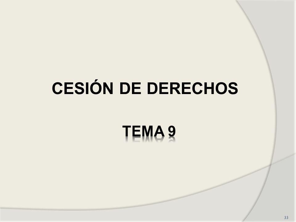 33 CESIÓN DE DERECHOS