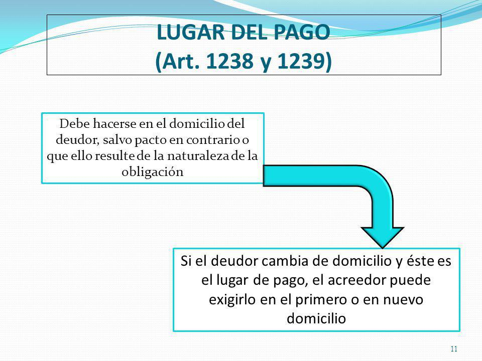 LUGAR DEL PAGO (Art.