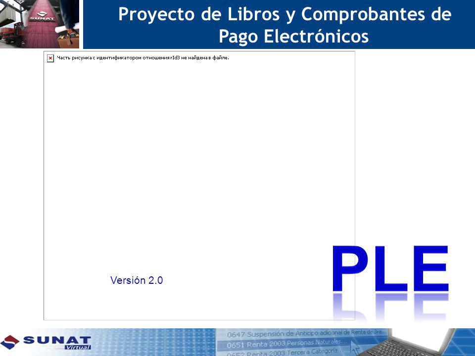Proyecto de Libros y Comprobantes de Pago Electrónicos Versión 2.0