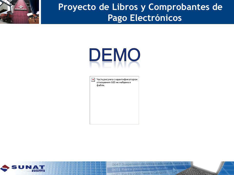 Proyecto de Libros y Comprobantes de Pago Electrónicos