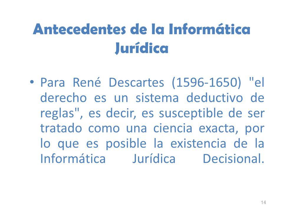 14 Antecedentes de la Informática Jurídica Para René Descartes (1596-1650)