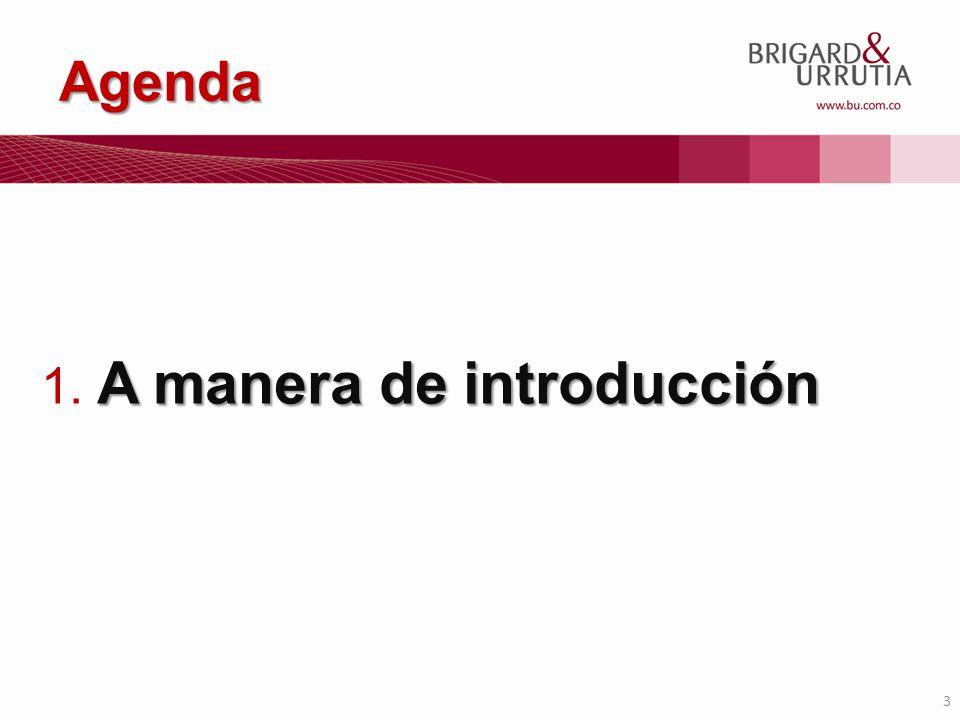 3 Agenda A manera de introducción 1. A manera de introducción