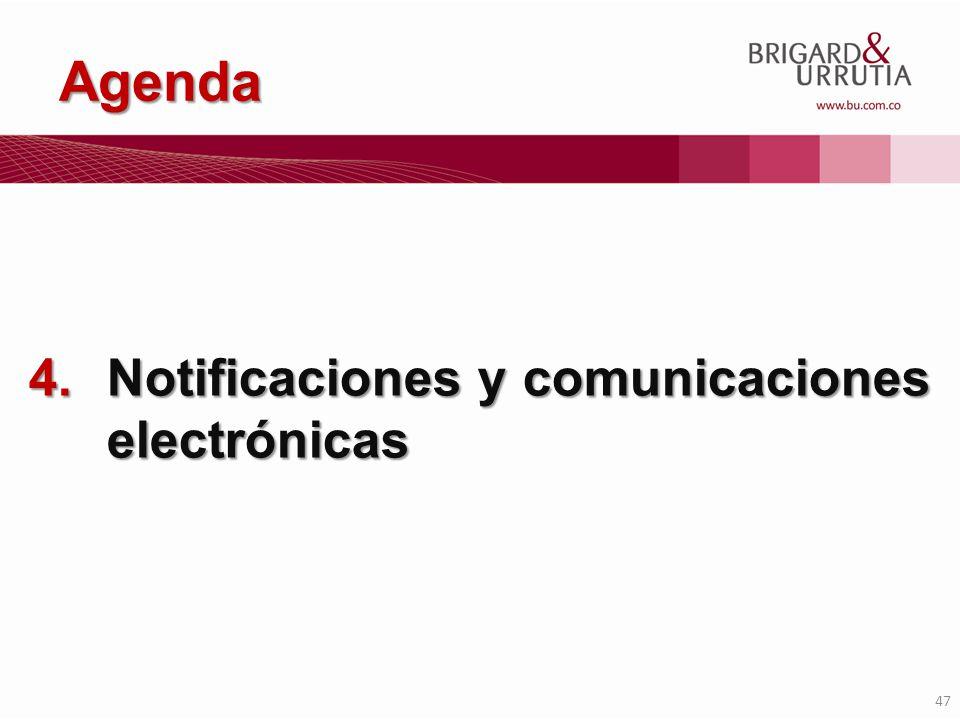 47 Agenda 4.Notificaciones y comunicaciones electrónicas