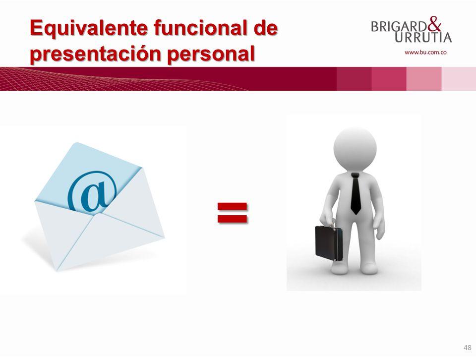 48 Equivalente funcional de presentación personal =