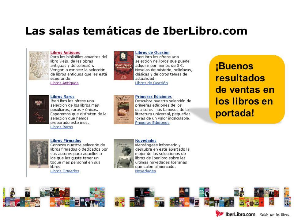 Las salas temáticas de IberLibro.com ¡Buenos resultados de ventas en los libros en portada!
